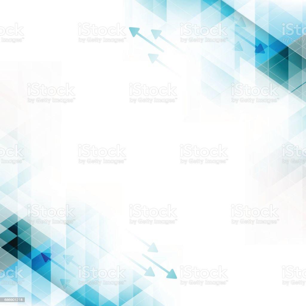 Technology abstract vector background with arrows and triangles. - ilustração de arte em vetor