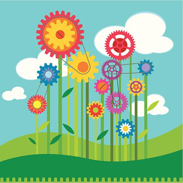 ilustraciones, imágenes clip art, dibujos animados e iconos de stock de la tecnología y la producción agrícola. - tintanegra00
