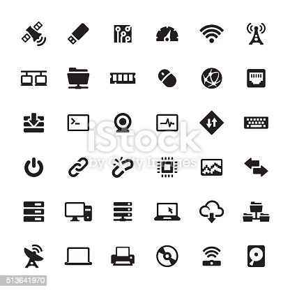 Technology and Computers related symbols and icons.