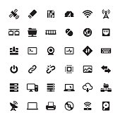 Technology and Computers vector symbols and icons