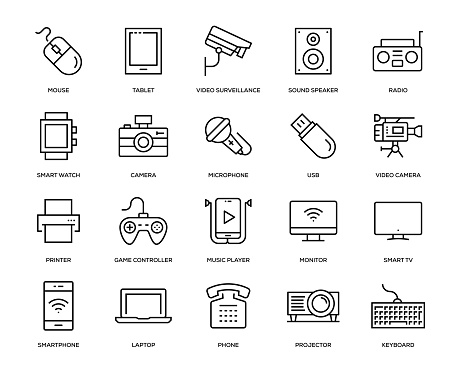 Technology and Devices Icon Set