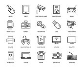 Technology and Devices Icon Set - Thin Line Series