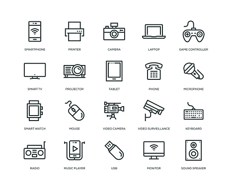 Technology and Devices Icons - Line Series