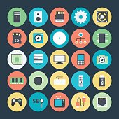 Technology and Hardware Colored Vector Icons 1