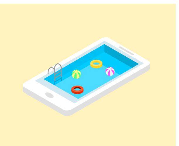 bildbanksillustrationer, clip art samt tecknat material och ikoner med teknik och fritid resa. - pool