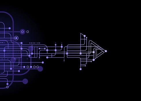 technology arrow circuit