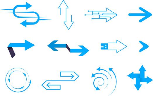 various arrows design elements set