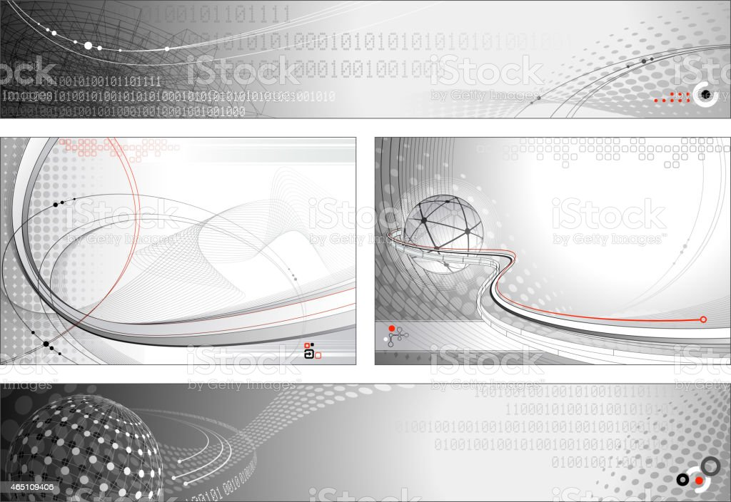 Technology Background and Banners vector art illustration