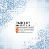 istock Technology Background on gears 468986675