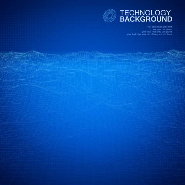 technologia tło - horyzont stock illustrations
