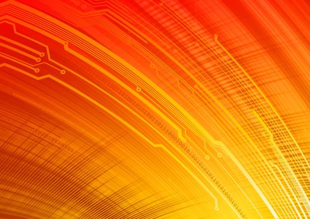 ilustrações de stock, clip art, desenhos animados e ícones de technology background - vr red background
