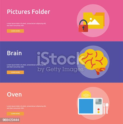 Technology Banner Design Stock Vector Art & More Images of Abstract 965420444