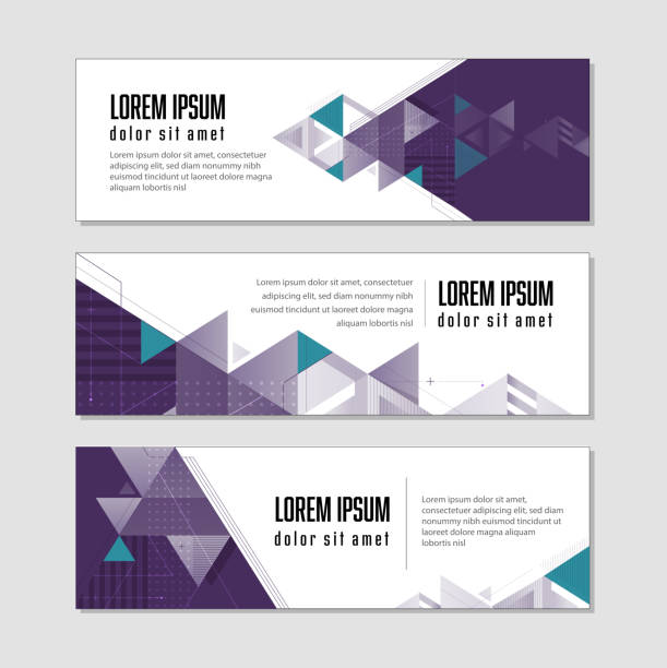 technology banner template modern banner template design copy space banner ads templates stock illustrations