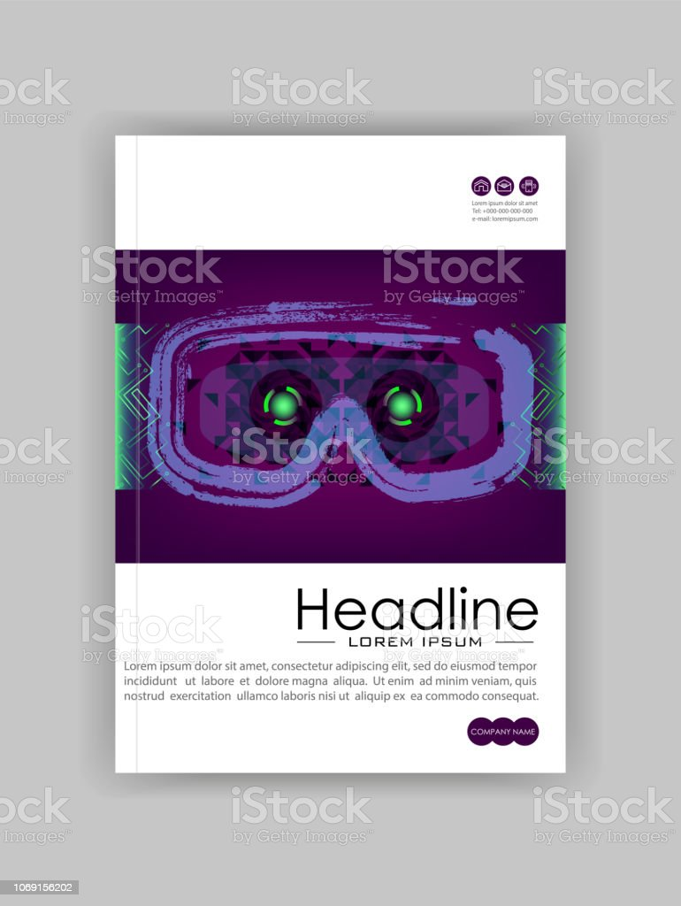 Technology Banner With Hud Gui Banner Design Elements Headup