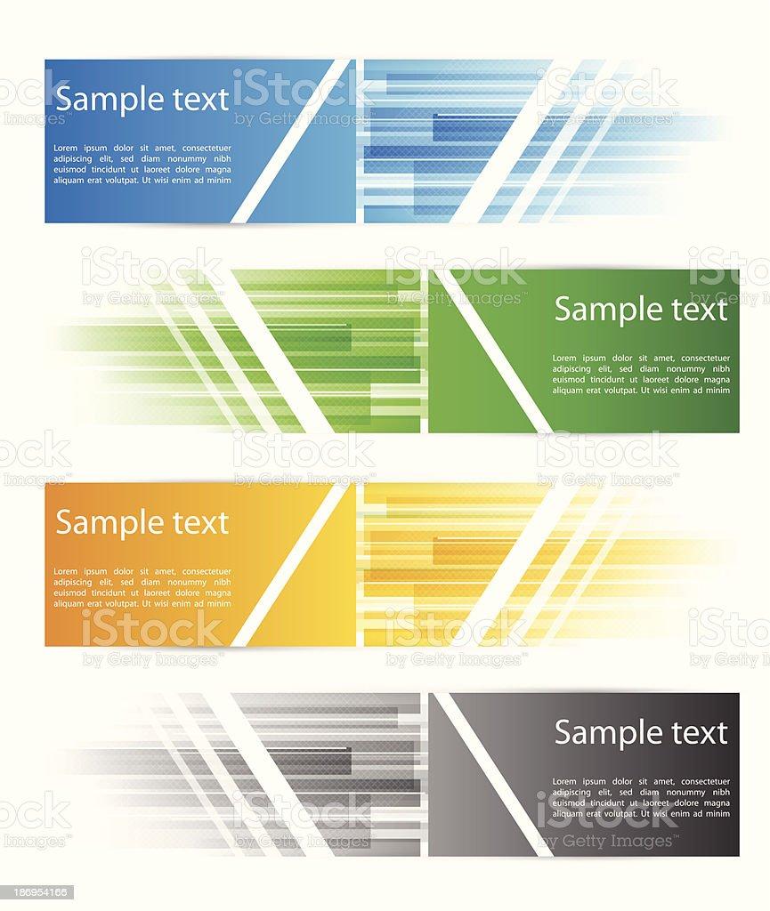 Technology banners vector art illustration
