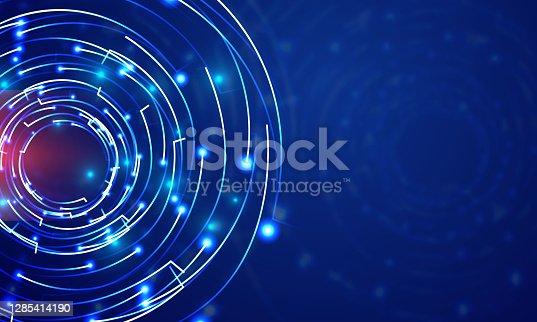 istock Technology Big Circle lens type Background illustration 1285414190
