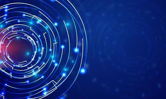 Technology Big Circle lens type Background illustration