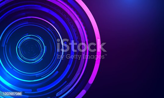 istock Technology Big Circle lens type Background 1202657086
