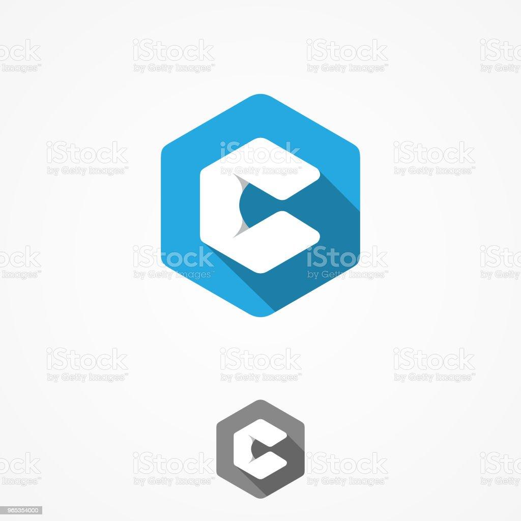 Technology business corporate letter c vector design symbol with hexagon background technology business corporate letter c vector design symbol with hexagon background - stockowe grafiki wektorowe i więcej obrazów abstrakcja royalty-free