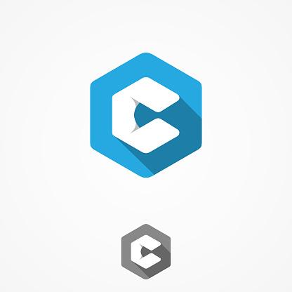 Technology Business Corporate Letter C Vector Design Symbol With Hexagon Background - Stockowe grafiki wektorowe i więcej obrazów Abstrakcja