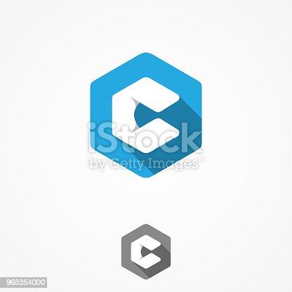 Technology Business Corporate Letter C Vector Design Symbol With Hexagon Background - Stockowe grafiki wektorowe i więcej obrazów Abstrakcja 965354000