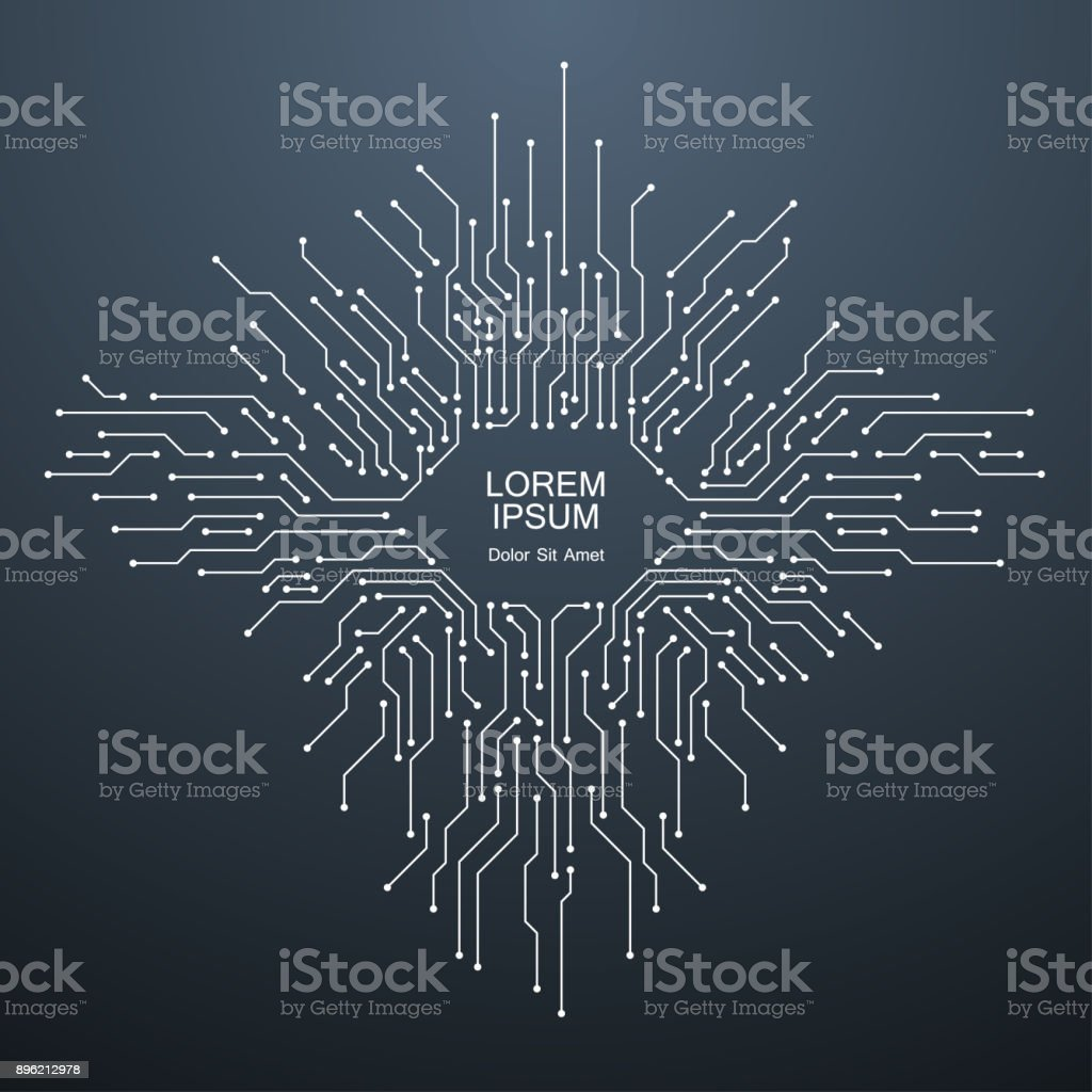 Technology circuit background royalty-free technology circuit background stock illustration - download image now