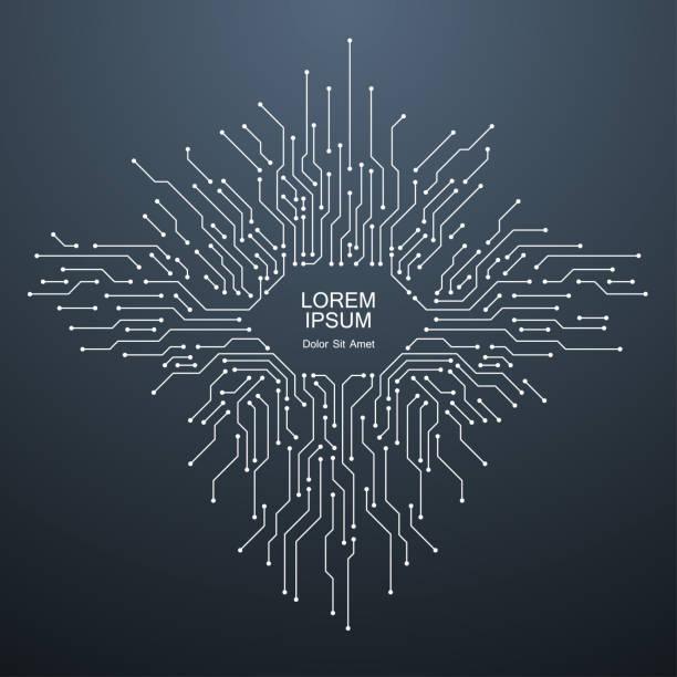 teknoloji devre arka plan - bilgisayar yongası stock illustrations