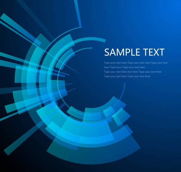 illustrations, cliparts, dessins animés et icônes de technology circular background - infographie visualisation de données