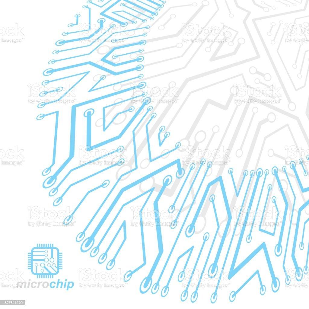 Élément De Cybernétique Technologie Communication Vector Abstract ...