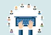 Technology Communication Networking Webinar Concept