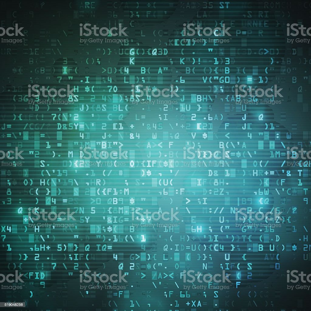 Technology computer digital data code background vector art illustration