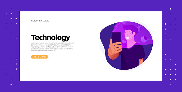 Technology Concept Vector Illustration for Website Banner, Advertisement and Marketing Material, Online Advertising, Business Presentation etc.