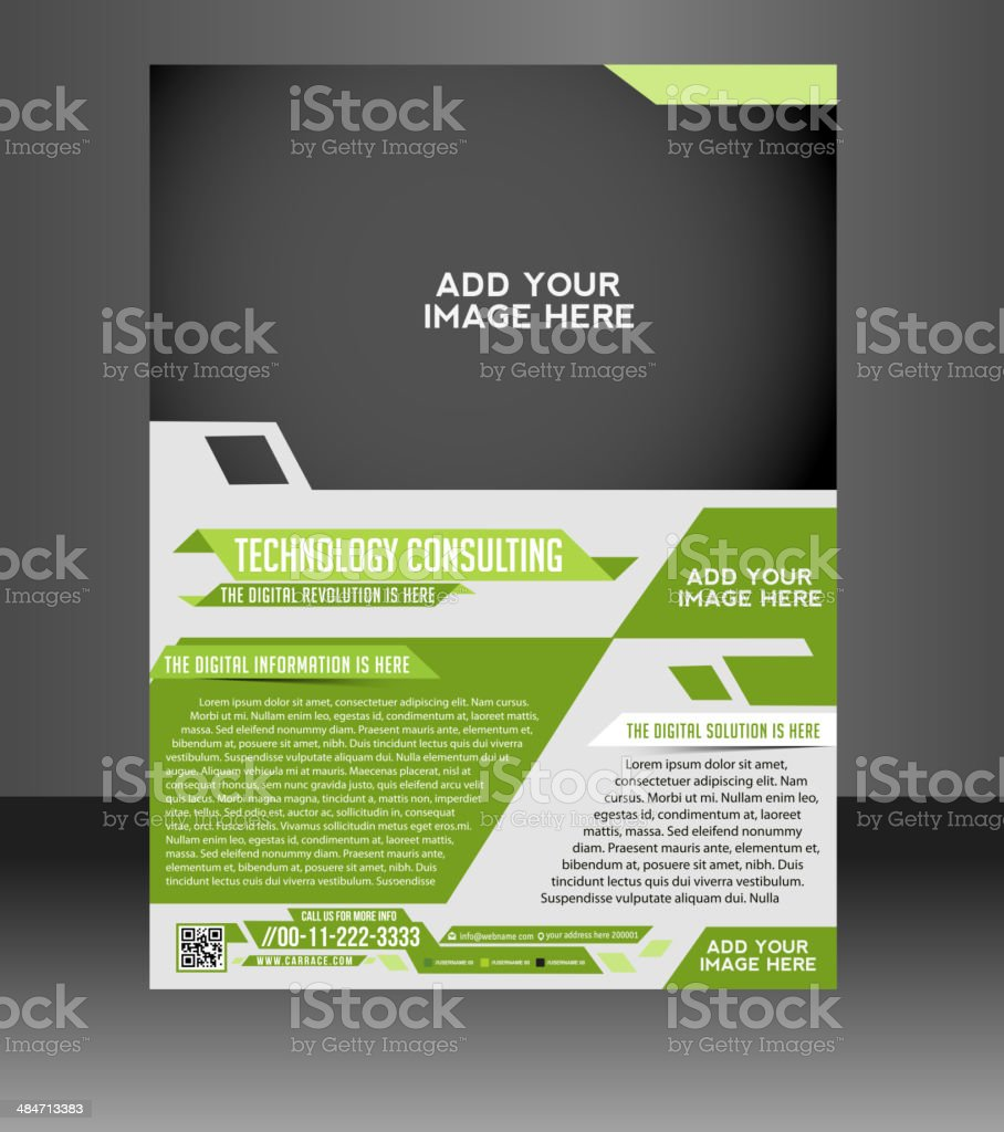 Technology Consulting Flyer Template.