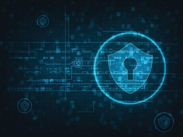 Technologie-Cyber-Sicherheit – Vektorgrafik