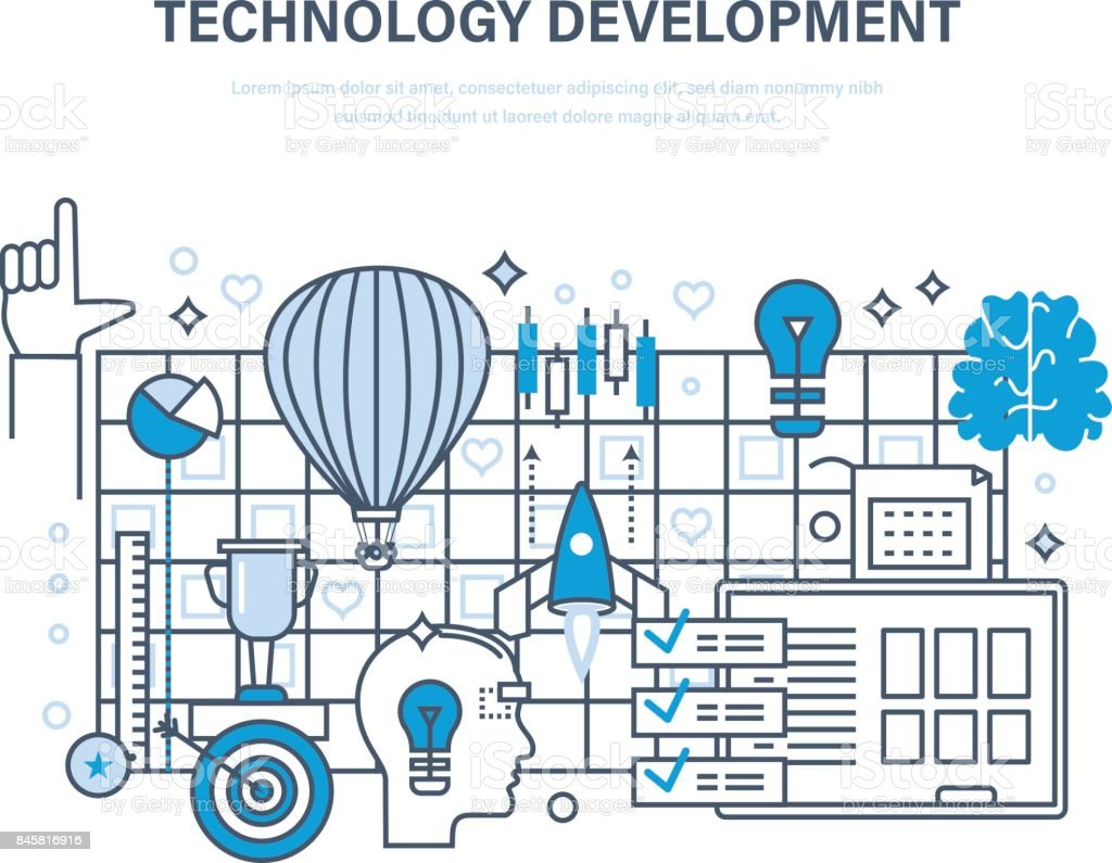 Technology Development Startup Creative Modern Information ...