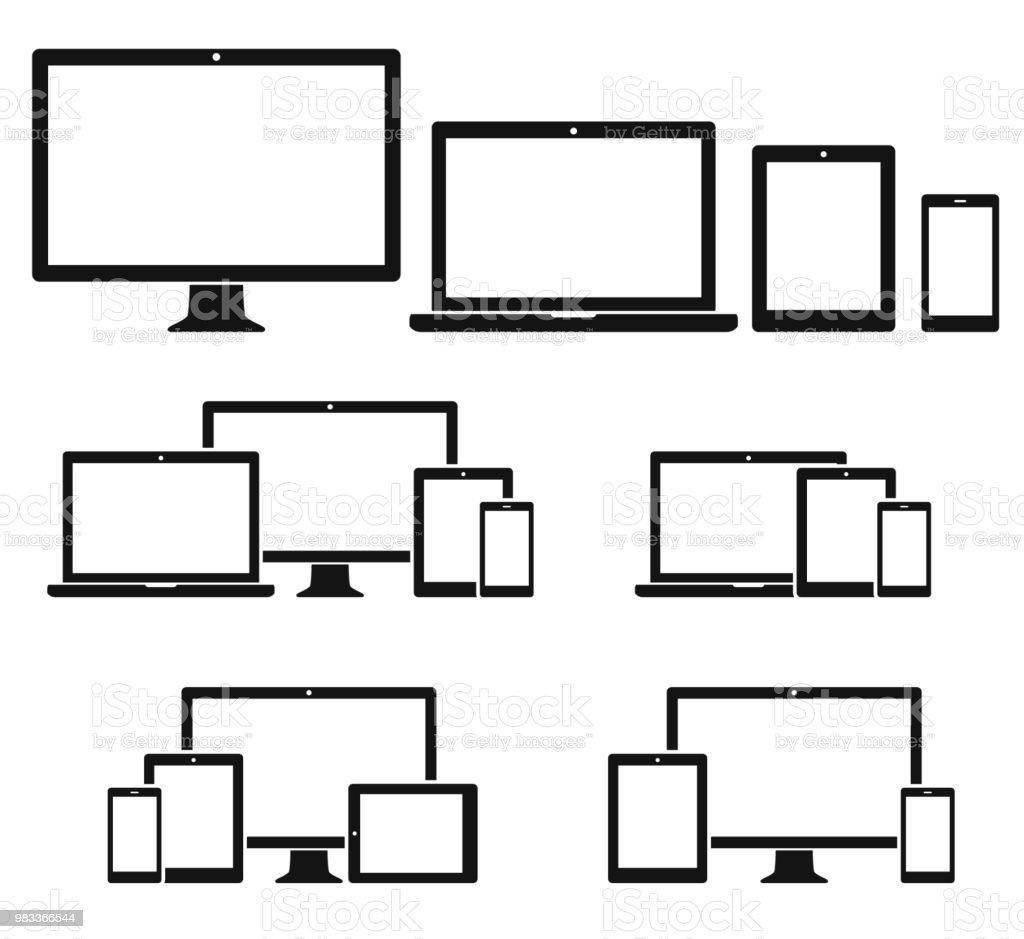 Technology devices icon set