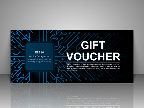 Technology Event Invitation Card Template Gift Voucher Stock