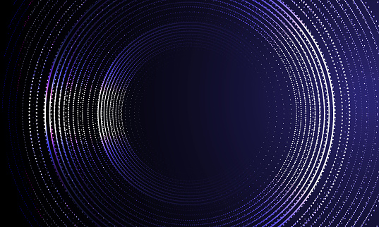 technology futuristic circle on dark background