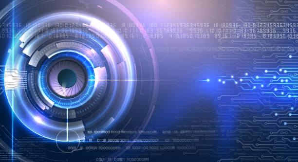 Technologie im futuristischen Auge heller Hintergrund – Vektorgrafik
