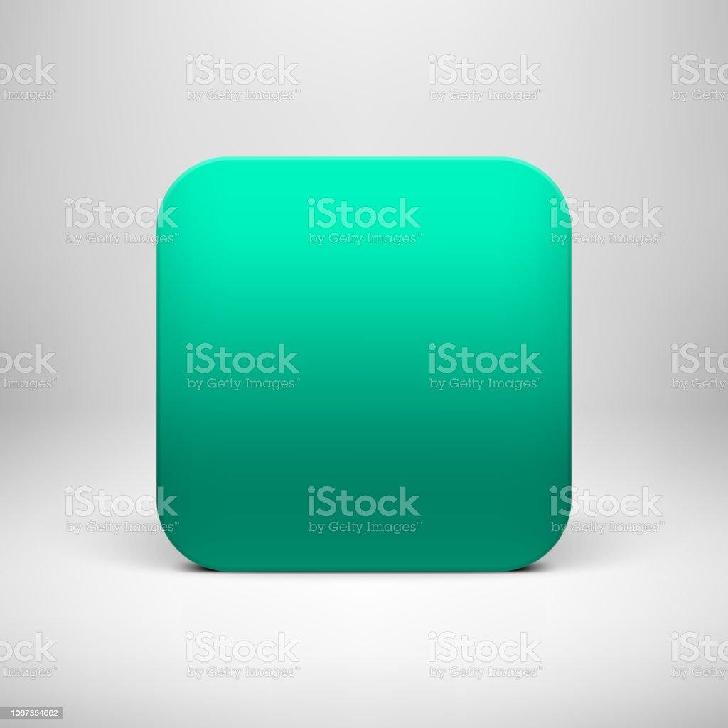 Plantilla verde icono en blanco de la aplicación de tecnología - ilustración de arte vectorial