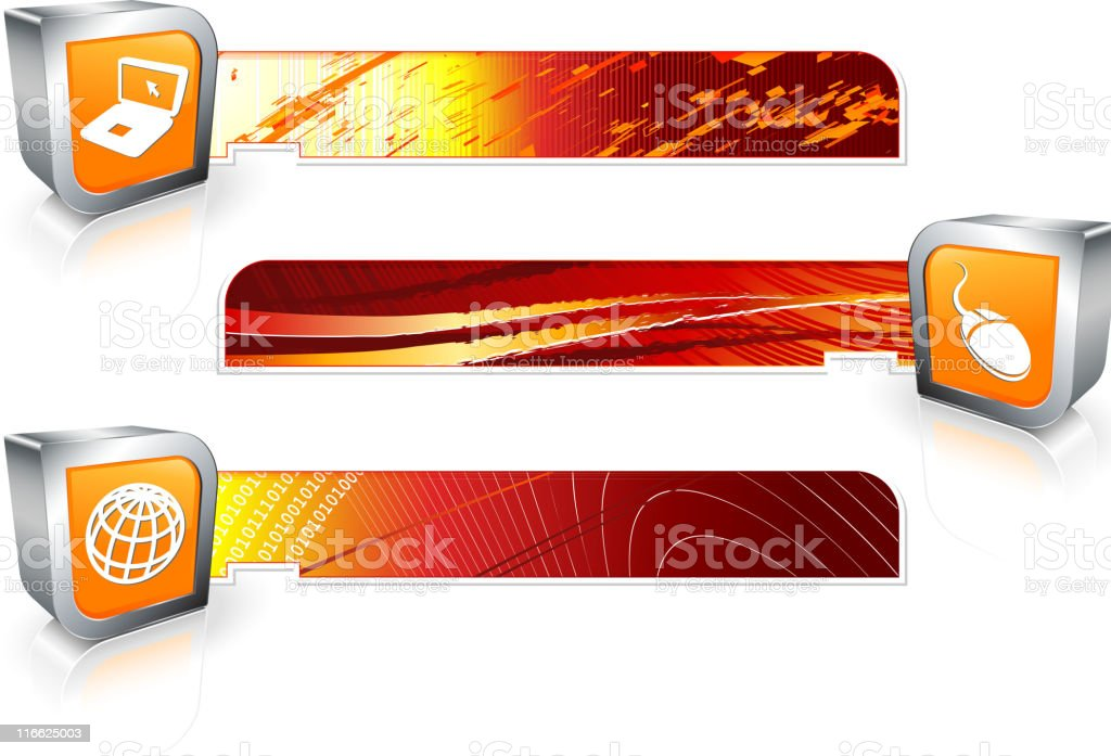 technology header footer images royalty-free stock vector art