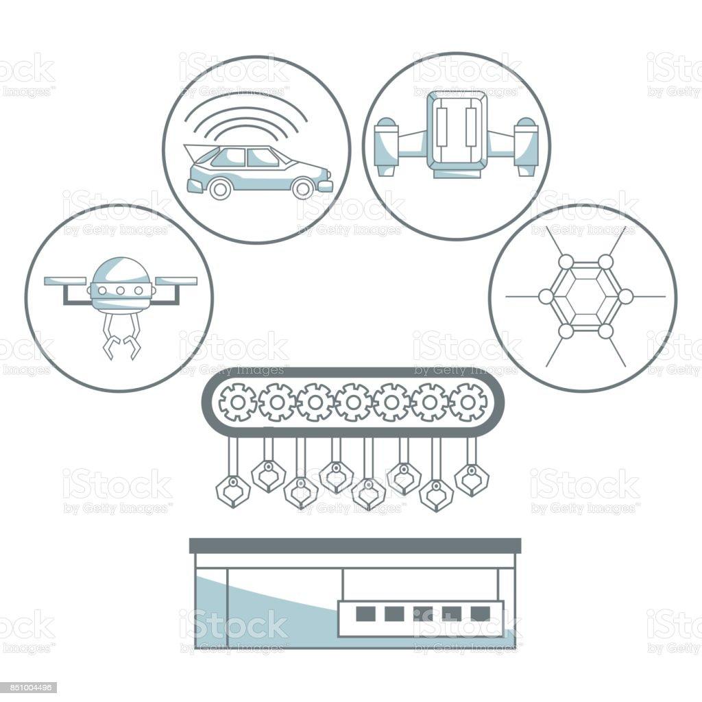 Technology icon design vector art illustration