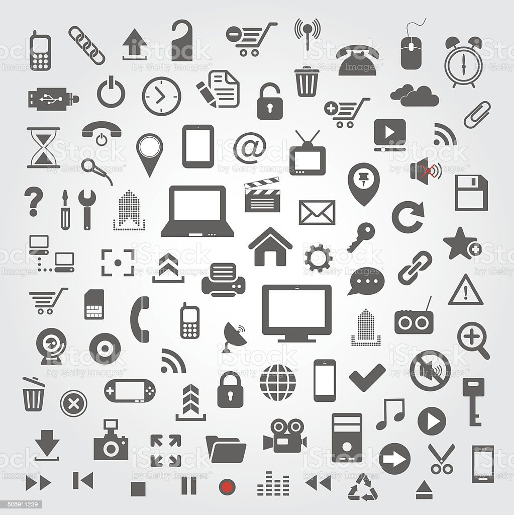 technology icon for website vector art illustration