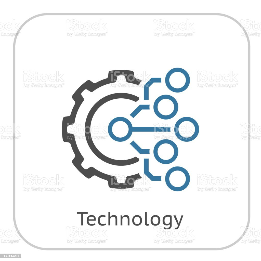 technology icon symbol digital vector factory gear electronic business industry engineering pictogram icons finance illustration usa fotolia