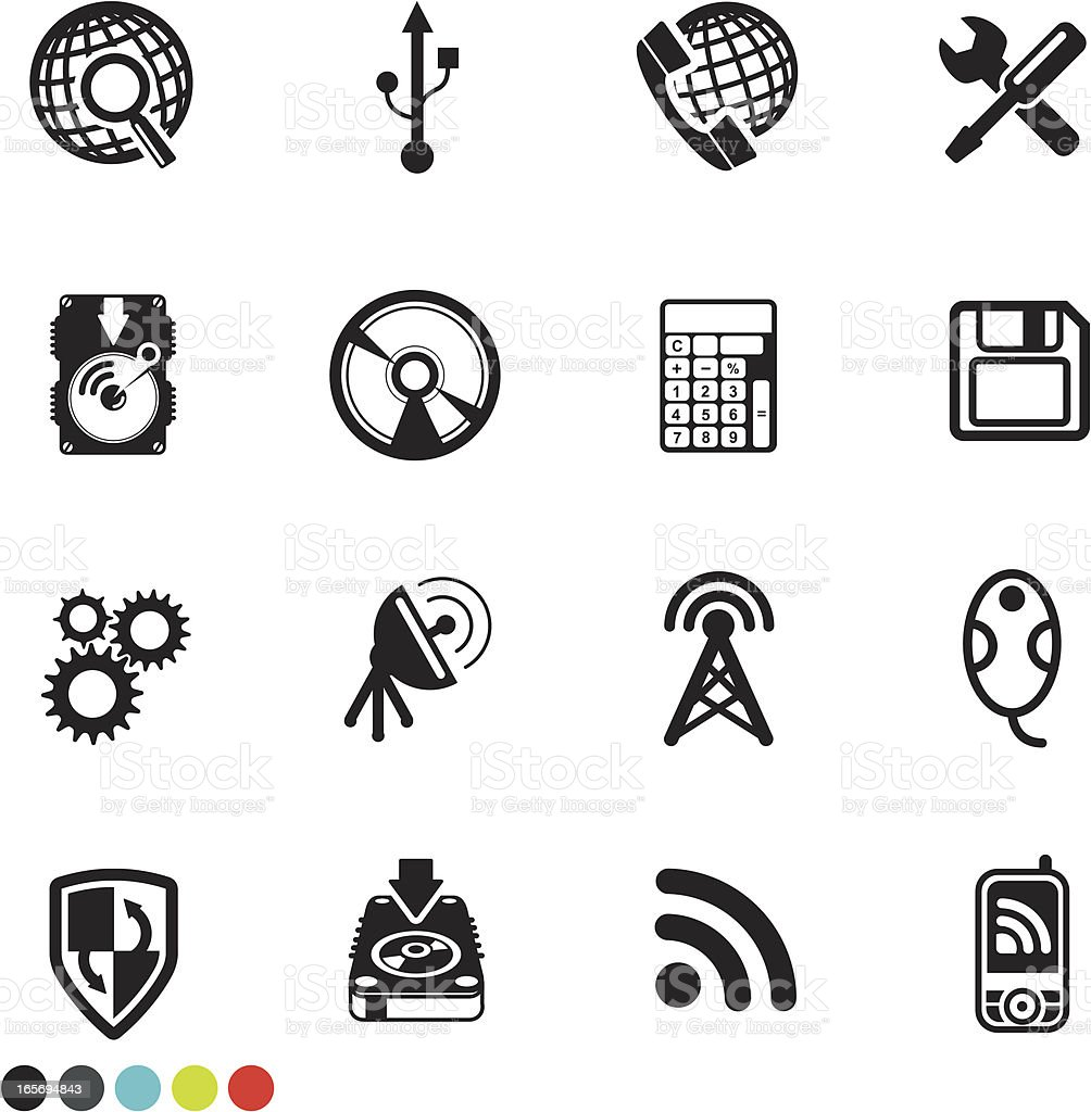 technology icon set royalty-free technology icon set stock vector art & more images of cd-rom