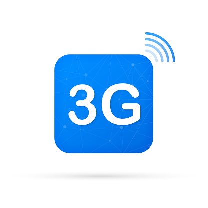 3G technology icon symbols. Wireless mobile telecommunication service concept. Vector illustration.
