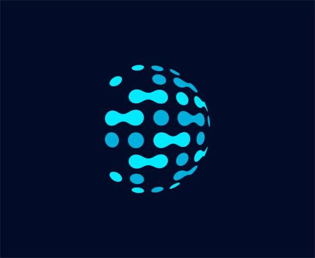 ikona technologii - globalny stock illustrations