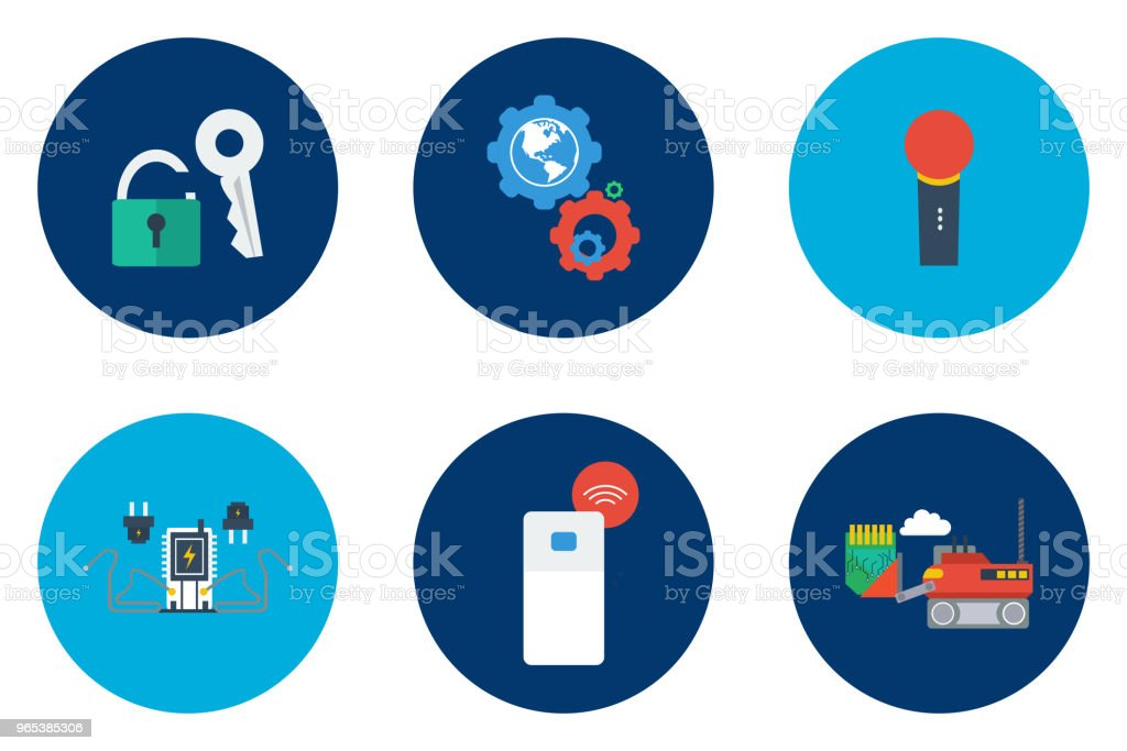 Technology Icons Design royalty-free technology icons design stock illustration - download image now