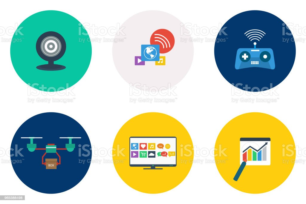 Technology Icons Design royalty-free technology icons design stock vector art & more images of abstract