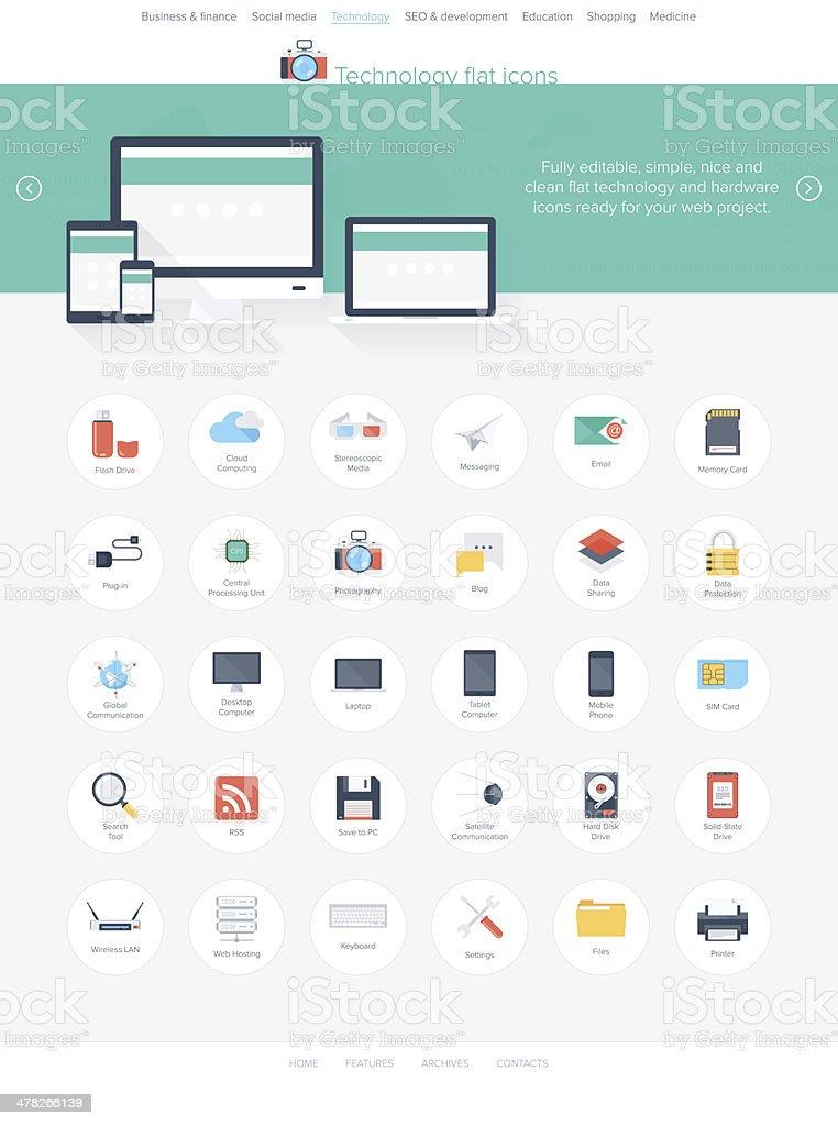 Icônes de la technologie - Illustration vectorielle